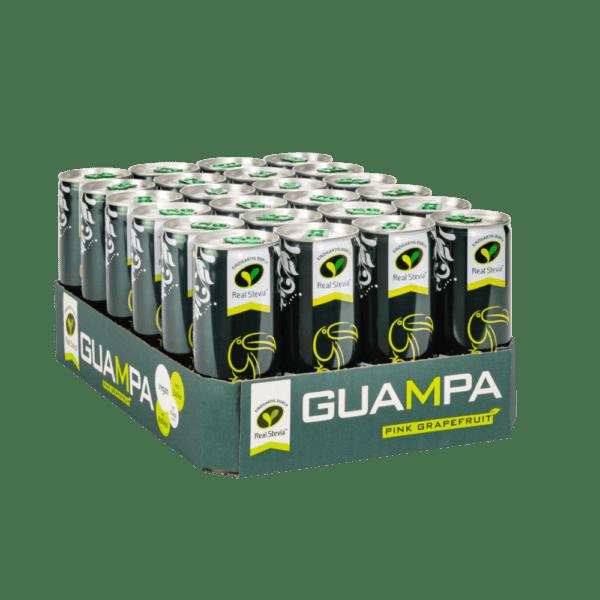 GUAMPA Energy Pink Grapefruit 24er mit Real Stevia