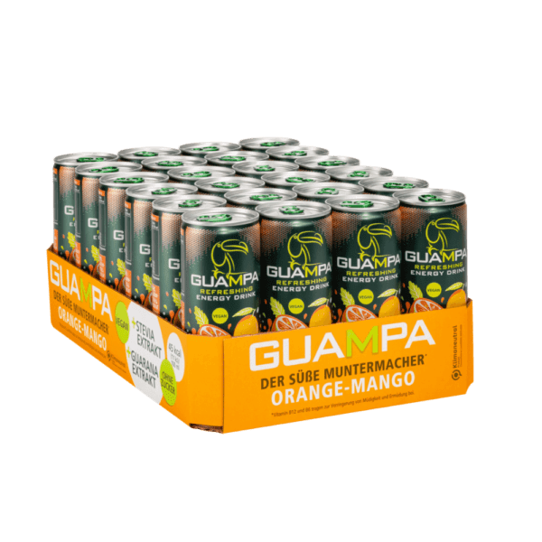 GUAMPA Energy orange-mango 24er mit Real Stevia